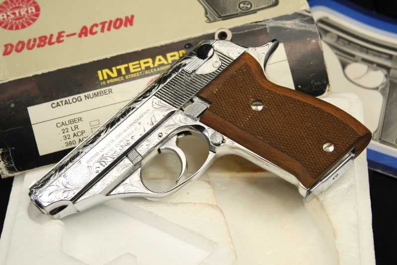 Factory Engraved Chrome Astra - Constable (PPK) .380 Semi-Auto Pistol - IN BOX - Picture 4
